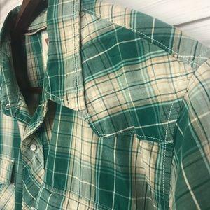 Levi's Mens Short Sleeve Pearl Snaps Pld Shirt XXL